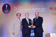 INTERCONTINENTAL HANOI WESTLAKE WINS AN AWARD AT THE 26TH TTG TRAVEL AWARDS 2015