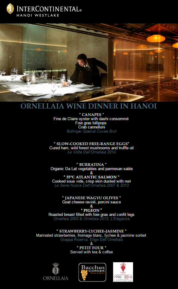 Ornellaia wine dinner